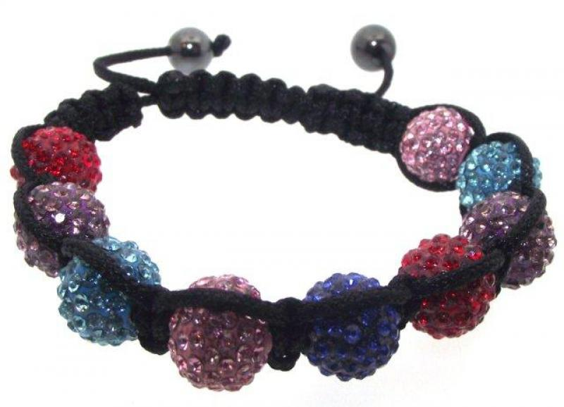 Multi Coloured Adjustable Crystal Sparkles Bracelet